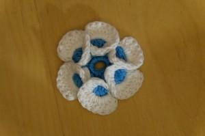 3D 6 blättrige Blume klein